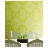 Graham & Brown Mystique Avocado Wallpaper by Laurence Llewelyn-Bowen